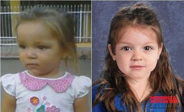 Imagem de Emili (esq.) é comparada a reconstituição facial de criança encontrada morta nos EUA. (Foto: Montagem/G1)