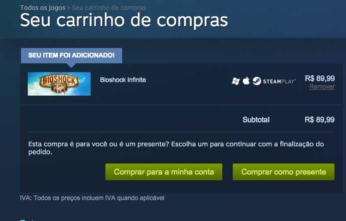 BioShock Infinite no Steam (Foto: Reprodução/Felipe Vinha)