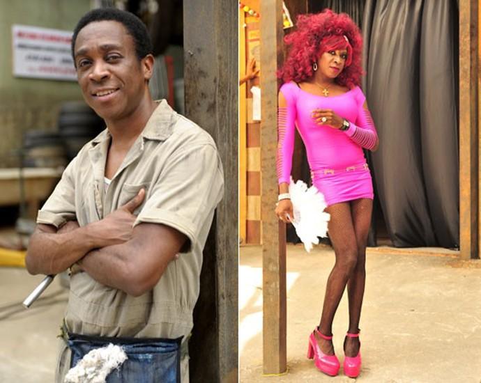 O ator Maurício Xavier em dois momentos: antes e depois da transformação (Foto: TV Globo)