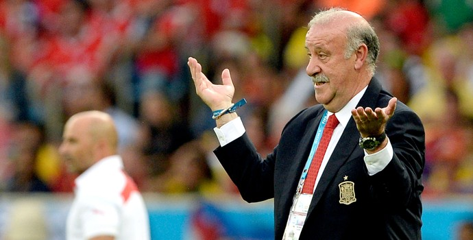 Vicente del Bosque Espanha derrota Chile (Foto: AP)