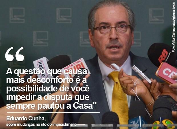 O presidente da Câmara, Eduardo Cunha, fala sobre o julgamento do STF (Foto: Valter Campanato/Agência Brasil)
