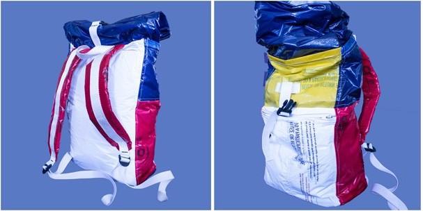 Mochila de plástico passou por transformação (Foto: Divulgação Trisha Cheeney)