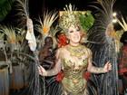 Claudia Raia festeja título da Beija-Flor no carnaval do Rio: 'Estou radiante'