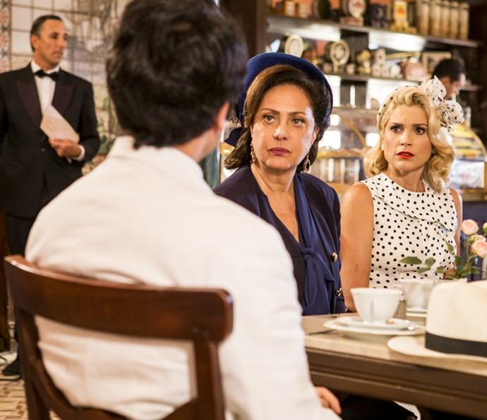 Ernesto diz que vai contar tudo sobre Sandra! (Foto: Ellen Soares/Gshow)