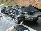 Acidente com 2 mortos e um ferido causa lentidão de 10 km na BR-116