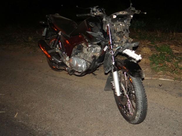 Oficial estava a bordo de uma motocicleta no momento do acidente  (Foto: Blog do Sigi Vilares)
