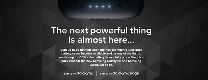 Mophie anuncia capas com 100% de bateria extra para Galaxy S6 e S6 Edge (Divulgação/Mophie)