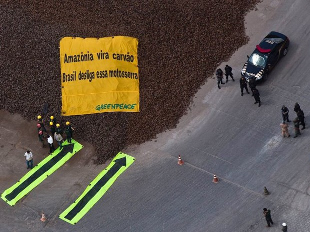 Greenpeace quer acordo com a indústria de ferro gusa do Maranhão para o fim de ilegalidades (Foto: Divulgação/Greenpeace)