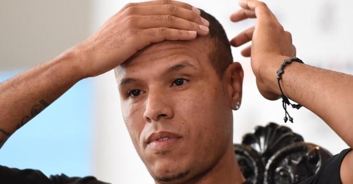 Luis Fabiano Apresentação Vasco (Foto: André Durão)