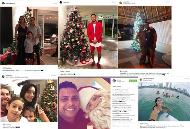 Atletas postam mensagens de Natal nas redes sociais (Foto: Reprodução Instagram)