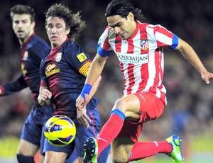 Falcao, Barcelona e Atlético de Madri, AP (Foto: Agência AP)