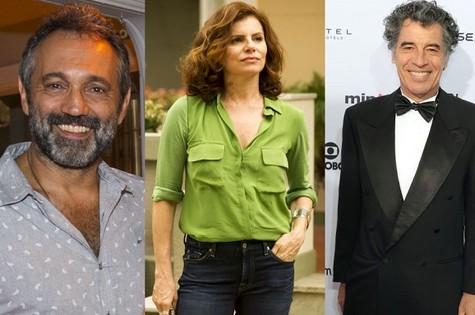 Domingos MOntagner, Débora Bloch e Paulo Betti (Foto: TV Globo)
