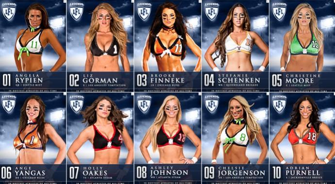 Liga de futebol americano de lingerie elege as mais gatas de sua ... 92bfea70bbfa0