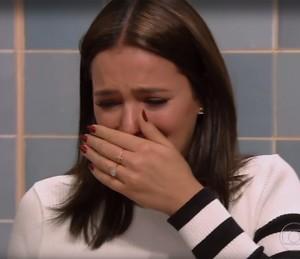 Bruna Marquezine se emociona no Caldeirão (Foto: Globo)