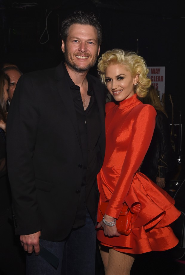 Blake Shelton e and Gwen (Foto: Larry Busacca / GETTY IMAGES NORTH AMERICA / AFP)