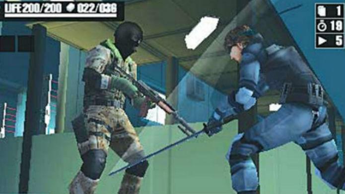 Séries famosas com jogos de cartas: Metal Gear Acid (Foto: Divulgação/Konami)