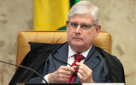 O procurador-geral da república.Rodrigo Janot.Na denúncia,ele pde indenização de R$ 10 milhões (Foto:  Agência Senado)
