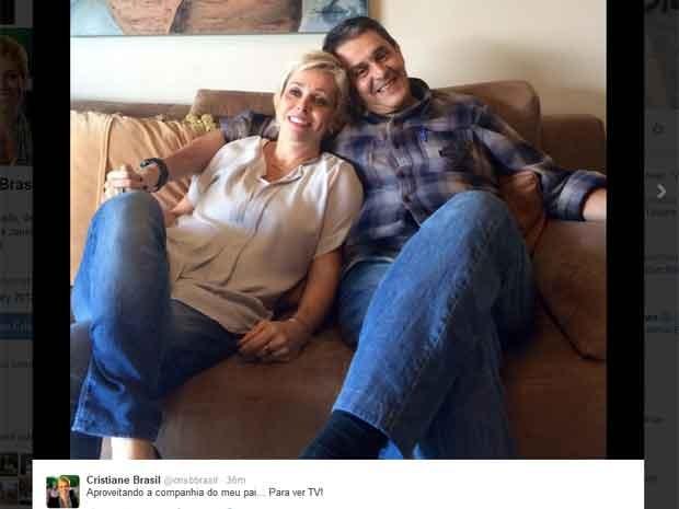 Filha postou foto com Roberto Jefferson em rede social (Foto: Reprodução / Twitter)