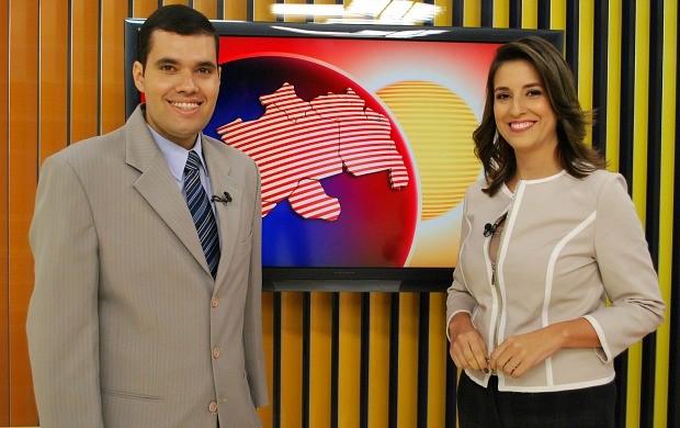 A partir de segunda-feira (21), Luana Borba apresenta o telejornal ao lado de Guilherme Fragas (Foto: Katiúscia Monteiro/ Rede Amazônica)