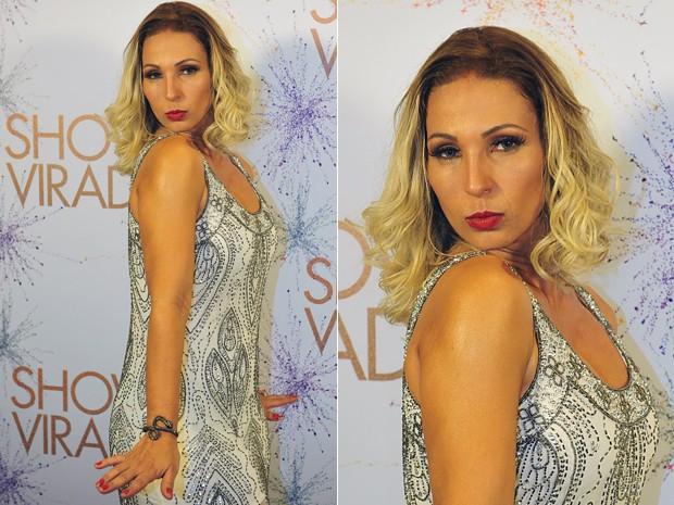 Valesca em estilo retrô chique (Foto: Reinaldo Marques/TV Globo)