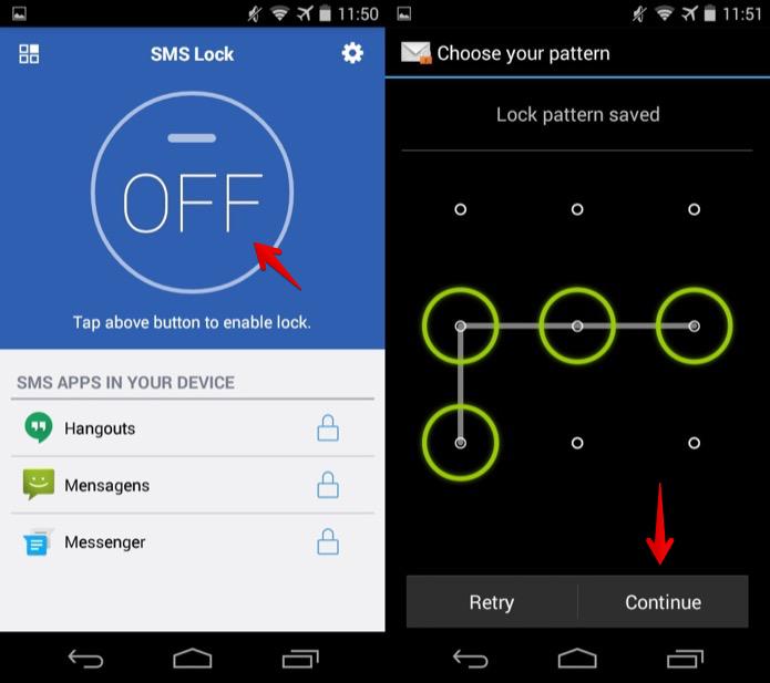 Ativando o bloqueio de mensagens de texto no Android (Foto: Reprodução/Helito Bijora)