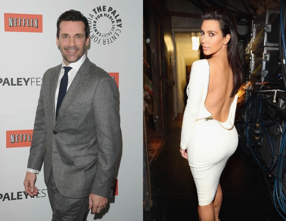 """O ator de 'Mad Men' fez diversos comentários contra a socialite, chamando-a de 'idiota pra cara**o, ou dizendo em uma entrevista que """"a coisa sexy não tem sentido fora do mundo das revistas. Você pode ser uma Kardashian e ter uma sex tape"""". Depois dessas declarações, ele deve estar na lista negra de Kanye West. (Foto: Getty Images)"""