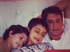 Andrea Santa Rosa posta foto de Márcio Garcia com os filhos: 'Gatos'