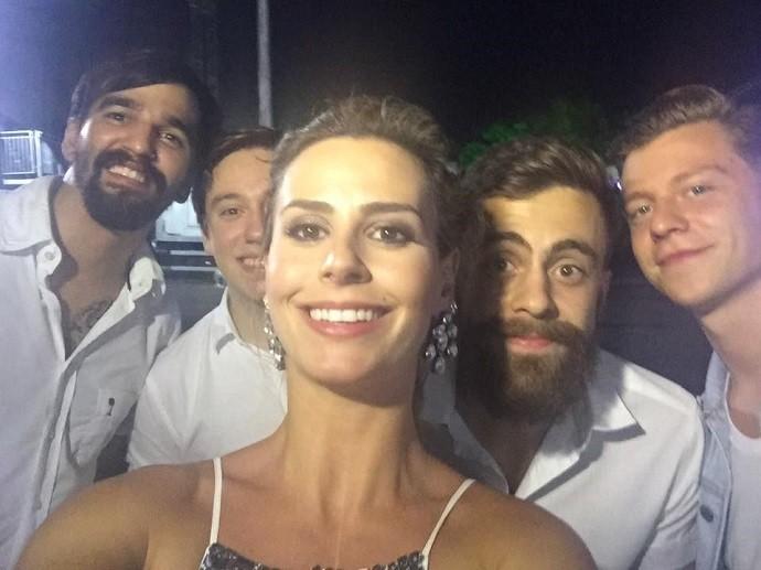Também teve selfie com a Scalene! (Foto: Divulgação/RPC)