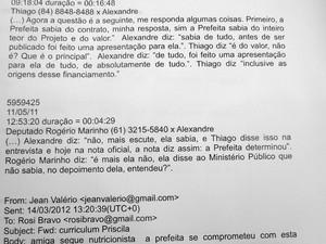 Conversas interceptadas pelo MP expõem Jean Valério, Thiago Trindade e Alexandre Magno em tratativas corruptivas (Foto: Reprodução)