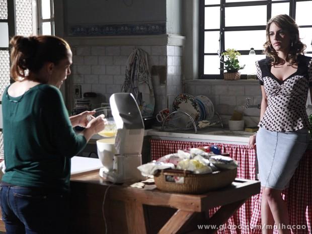 A paulista coloca plano em ação (Foto: Ellen Soares / TV Globo)