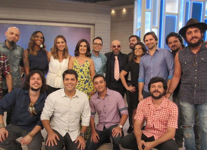 Fátima com todos os convidados do programa (Foto: Carolina Morgado/Gshow)