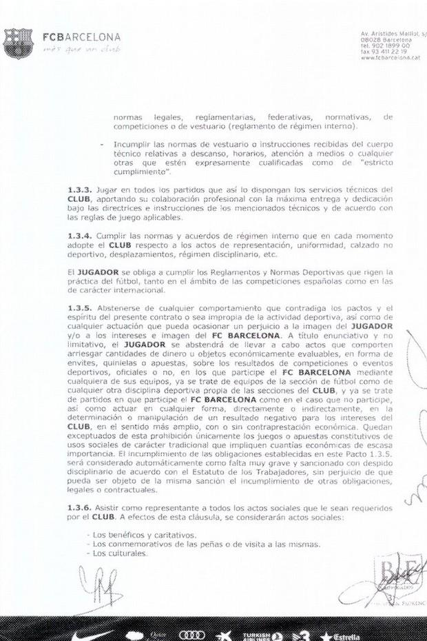 contrato neymar barcelona pagina 3 (Foto: Divulgação)