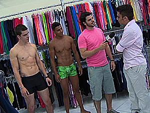 Veja as dicas de moda para não fazer feio na praia. (Foto: Reprodução/TV Vanguarda)