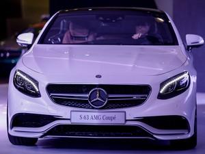 Mercedes apresenta modelo S 63 AMG Coupé no Salão do Automóvel de São Paulo (Foto: Caio Kenji/G1)