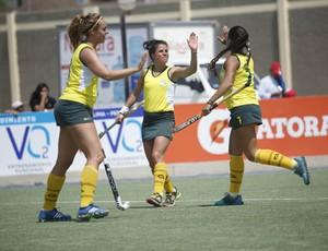 Assim como a seleção masculina, a feminina conquistou o título de forma invicta (Foto: Federação Pan-Americana de Hóquei (PAHF).)