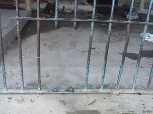 Presos serraram grades da cela 17 na tentativa de fugirem (Foto: Divulgação/Sinpoljuspi)