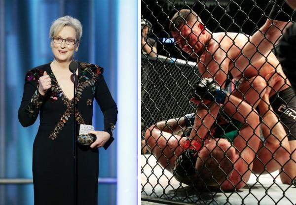 A atriz Meryl Streep e uma luta de MMA (Foto: Getty Images)