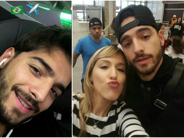 Maluma foi recebido por fs na chegada ao Rio de Janeiro, onde canta com Anitta neste sbado (Foto: Reproduo/Instagram)
