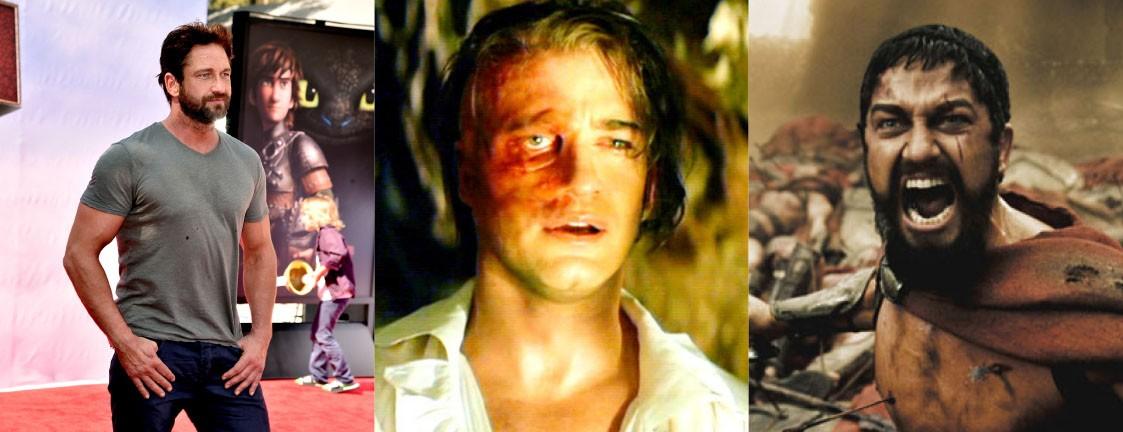 Gerard usou maquiagem pesada para deformar seu rosto em 'O Fantasma da Ópera' (2004), mas é impossível não se lembrar dele em '300' (2006) para o qual tonificou os músculos em mais 11 kg. (Foto: Getty Images/Reprodução)