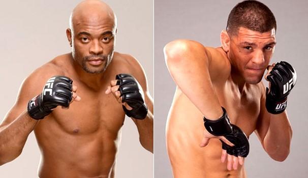 Anderson Silva enfrenta Nick Diaz em seu retorno ao octógono do UFC (Foto: Divulgação/Globo)