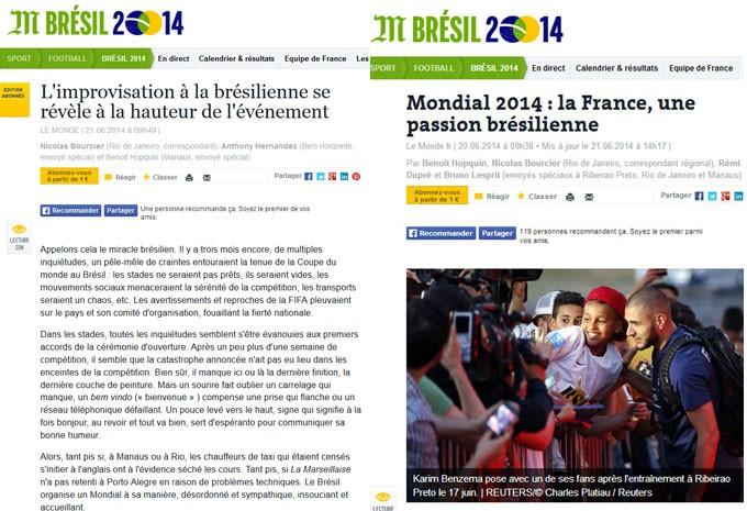 Le Monde escreve sobre improviso à brasileira