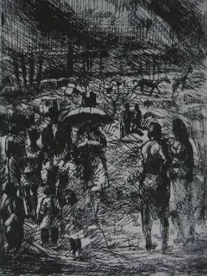 Esta é uma das gravuras furtadas do Museu Guido Viaro (Foto: Reprodução/ RPC)