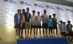 João Paulo e Lucas Araújo com a medalha de prata por equipe (Foto: Reprodução / Facebook)