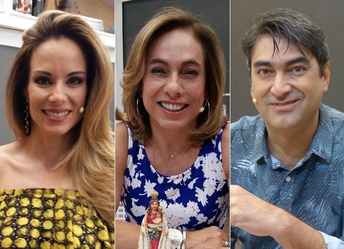 Ana Furtado, Cissa Guimarães e Zeca Camargo (Foto: Gshow)