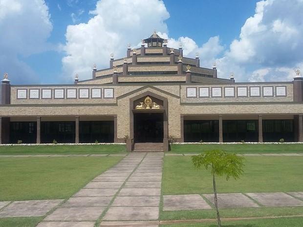 Templo budista tem capacidade para receber 2 mil fiéis em Cabreúva (Foto: Reprodução/Facebook)