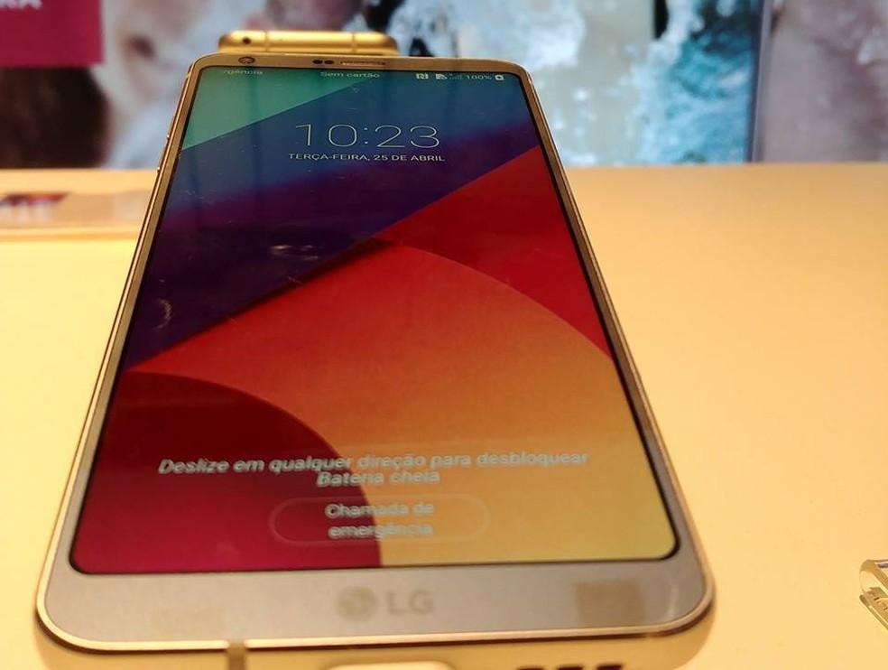LG G6, novo smartphone da LG. (Foto: Divulgação/LG)