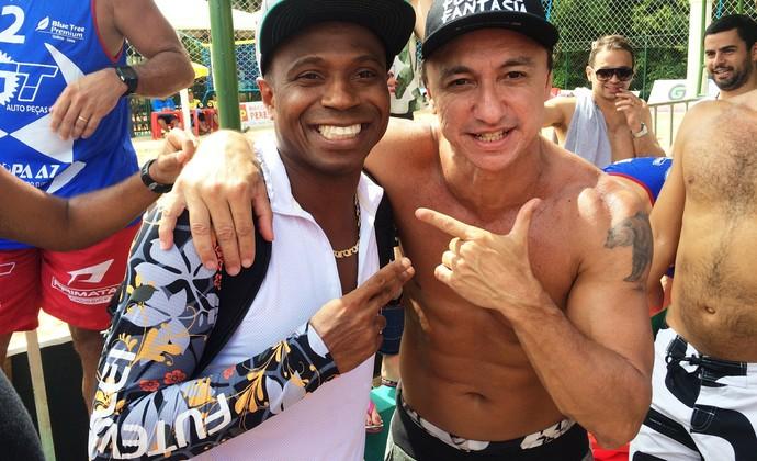 Edílson e Paulo Nunes (Foto: Paula Resende/GloboEsporte.com)