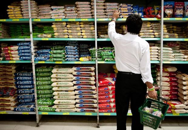 Inflação ; IPCA ; alimentos ; supermercado ; cesta básica ; consumo ; varejo ; alta dos preços ;  (Foto: Marcelo Camargo/Agência Brasil)