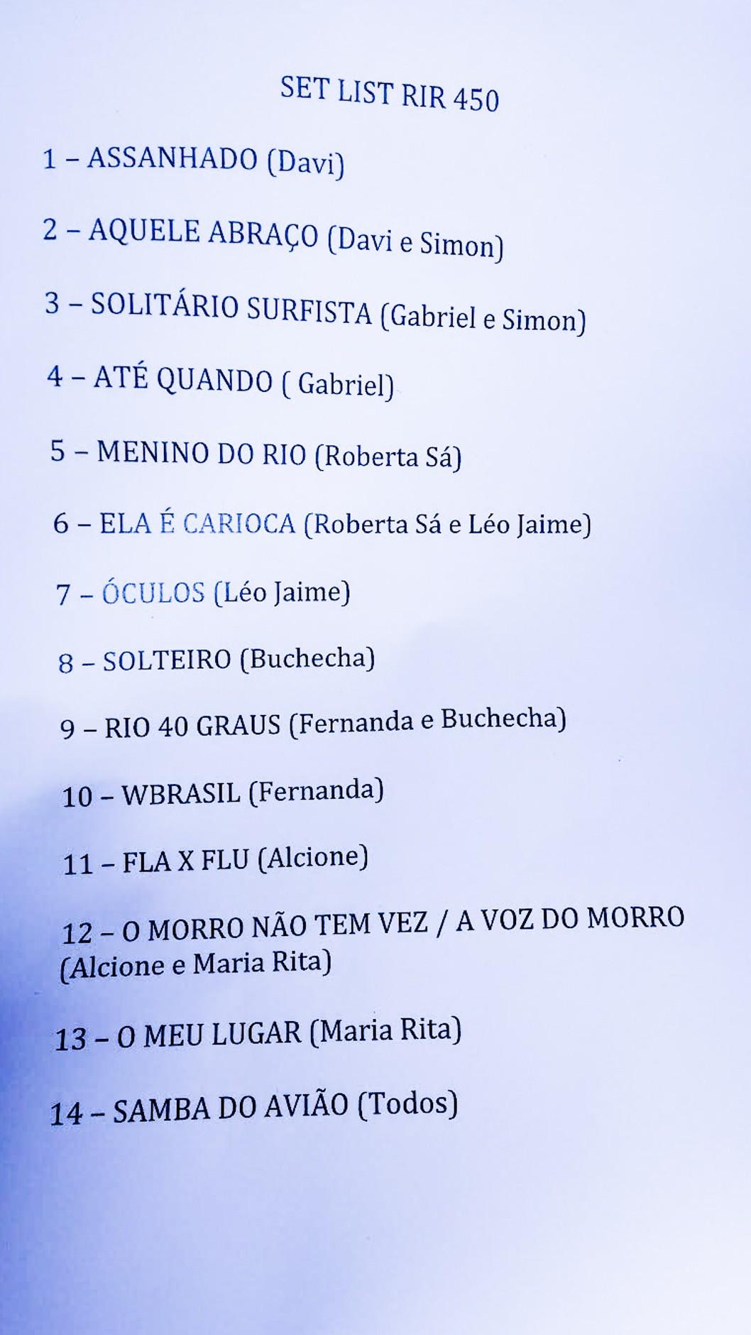 Setlist 450 Rock in Rio 2015 (Foto: Multishow)