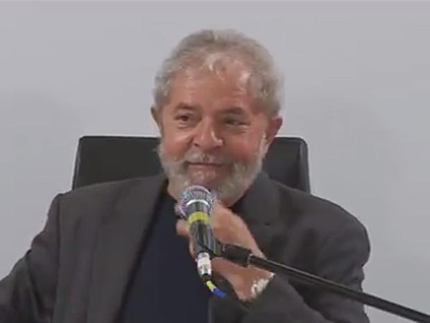 Lula recebeu blogueiros para um café da manhã na sede do seu instituto, em São Paulo (Foto: Reprodução/Instituto Lula)